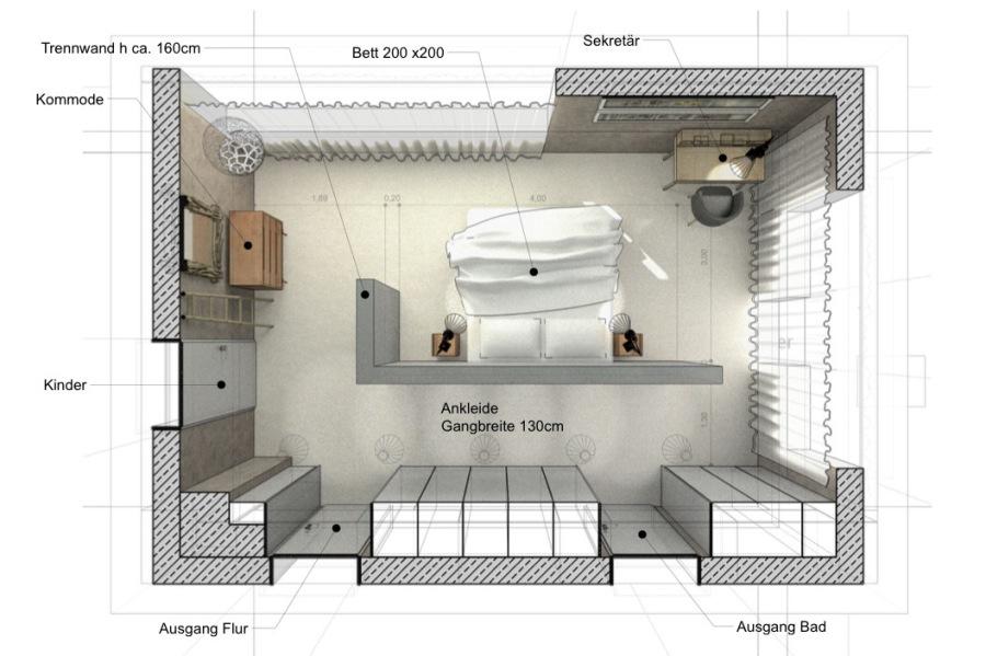 habes-architektur - Schlafzimmer